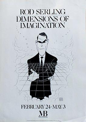 Rod Serling Caricature (Museum of Broadcasting Poster)