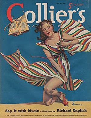 ORIG VINTAGE MAGAZINE COVER/ COLLIERS - JULY 20 1940