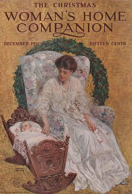 ORIG VINTAGE MAGAZINE COVER/ WOMAN'S HOME COMPANION - DECEMBER 1911