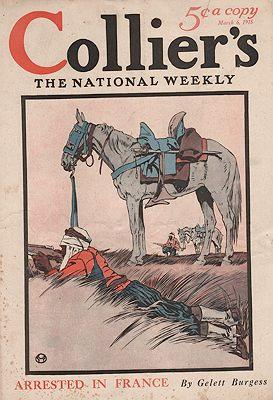 ORIG VINTAGE MAGAZINE COVER/ COLLIERS - MARCH 6 1915