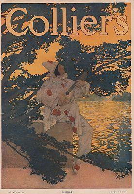 ORIG VINTAGE MAGAZINE COVER/ COLLIERS - AUGUST 8 1908