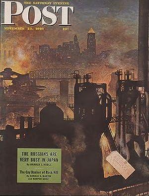 ORIG VINTAGE MAGAZINE COVER/ SATURDAY EVENING POST: Atherton (Illust.), John