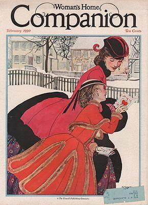 ORIG VINTAGE MAGAZINE COVER/ WOMAN'S HOME COMPANION - FEBRUARY 1930