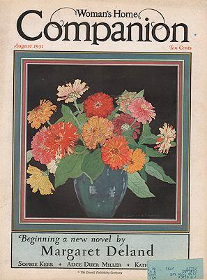 ORIG VINTAGE MAGAZINE COVER/ WOMAN'S HOME COMPANION - AUGUST 1931