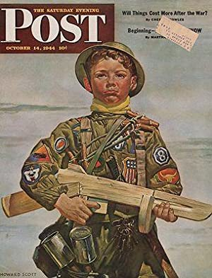 ORIG VINTAGE MAGAZINE COVER/ SATURDAY EVENING POST - OCTOBER 14 1944