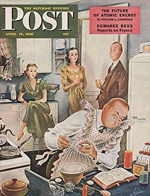 ORIG VINTAGE MAGAZINE COVER/ SATURDAY EVENING POST: Alajalov (Illust.), Constantin