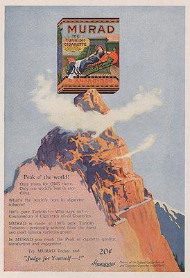 ORIG VINTAGE MAGAZINE AD/ 1921 MURAD CIGARETTE: N/A