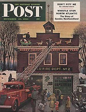 ORIG VINTAGE MAGAZINE COVER/ SATURDAY EVENING POST - DECEMBER 16 1950