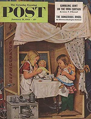 ORIG VINTAGE MAGAZINE COVER/ SATURDAY EVENING POST - JANUARY 31 1953