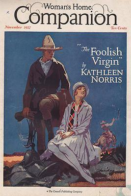 ORIG VINTAGE MAGAZINE COVER/ WOMAN'S HOME COMPANION: Sheridan (Illust.), John