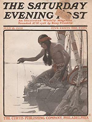 ORIG VINTAGE MAGAZINE COVER/ SATURDAY EVENING POST - JULY 18 1908