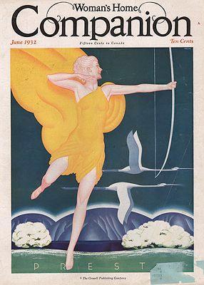 ORIG VINTAGE MAGAZINE COVER/ WOMAN'S HOME COMPANION: Welsh (Illust.), William