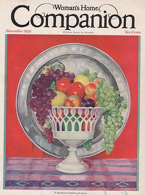 ORIG VINTAGE MAGAZINE COVER/ WOMAN'S HOME COMPANION: Powers (Illust.), Marion