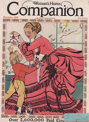 ORIG VINTAGE MAGAZINE COVER/ WOMANS HOME COMPANION: Barney (Illust.), Maginel
