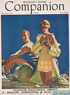ORIG VINTAGE MAGAZINE COVER/ WOMANS HOME COMPANION: Georgi (Illust.), Edwin