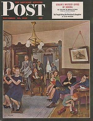 ORIG VINTAGE MAGAZINE COVER/ SATURDAY EVENING POST: Falter (Illust.), John