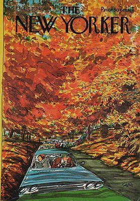 ORIG VINTAGE MAGAZINE COVER - THE NEW YORKER - OCTOBER 7 1974