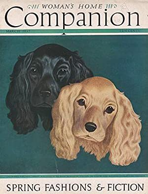 ORIG VINTAGE MAGAZINE COVER/ WOMAN'S HOME COMPANION: Atherton (Illust.), John