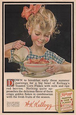 ORIG VINTAGE MAGAZINE AD/ 1916 KELLOGG'S CORN FLAKES AD