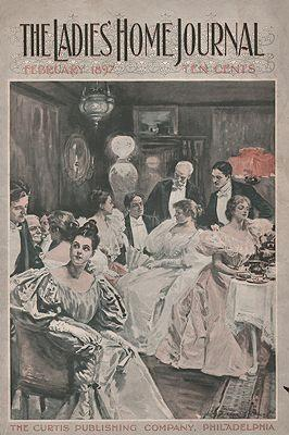 ORIG. VINTAGE MAGAZINE COVER - LADIES HOME JOURNAL - FEBRUARY 1897