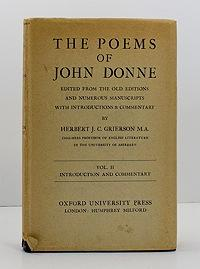 Poems of John Donne, The (Vol. II only of 2 volumes): Grierson, Herbert J.C.