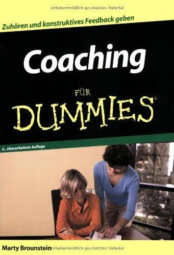 Coaching Für Dummies Zuhören Und Konstruktives Feedback Geben