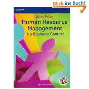 Human Resource Management in a Business Context: Alan Price: