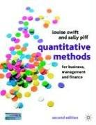 Quantitative Methods for Business, Management and Finance: Swift, Louise and
