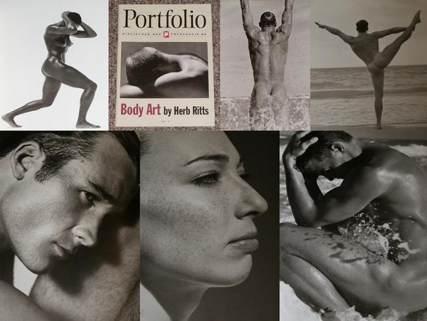 """HERB RITTS: """"BODY ART"""" PORTFOLIO MAGAZINE STERN PORTFOLIO LIBRARY OF PHOTOGRAPHY - Rare Fine Copy of The First Edition/First Printing"""