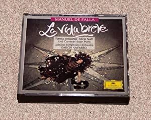 MANUEL DE FALLA: LA VIDA BREVE - Rare Fine Copy of The Double-Disc CD Set - ONLY COPY ONLINE: De ...