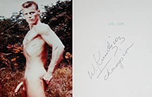"""JIM STRYKER: """"FULL-FRONTAL PROFILE"""" NUDE COLOR PHOTOGRAPH: Kundzicz, Walter (Champion"""