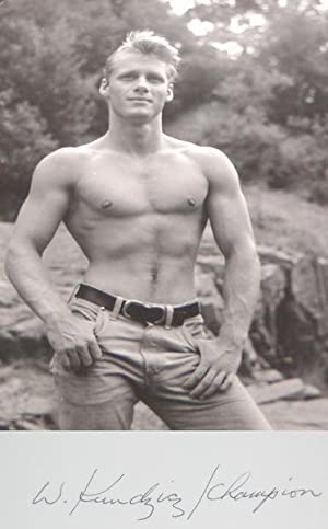 """JIM STRYKER: """"BARE-CHESTED"""" BLACK-AND-WHITE PHOTOGRAPH BY WALTER KUNDZICZ - Rare Fine ..."""