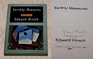 EARTHLY MEASURES: POEMS - Rare Fine Copy of The First Hardcover Edition/First Printing: Signed...