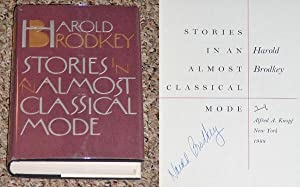 STORIES IN AN ALMOST CLASSICAL MODE - Scarce Fine Copy of The First Hardcover Edition/First ...