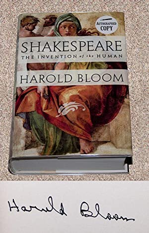 "SHAKESPEARE: THE INVENTION OF THE HUMAN - Rare ""Autographed Copy"" of The First Hardcover ..."