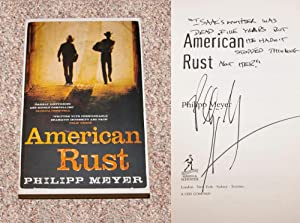 AMERICAN RUST - Rare Fine Copy of The First British Edition/First Printing: Signed And ...