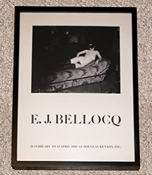 E.J. BELLOCQ: THE DOUGLAS KENYON EXHIBITION POSTER - Rare Pristine Framed Poster - ONLY COPY ONLINE...