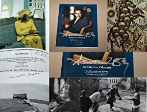 ARTISTS FOR OBAMA: THE EXHIBITION/AUCTION CATALOG -: Bey, Dawoud; Josephson,