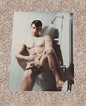 """DARREN CHANCE: """"FULL-FRONTAL SHOWER SCENE"""" NUDE COLOR PHOTOGRAPH BY WALTER KUNDZICZ - ..."""
