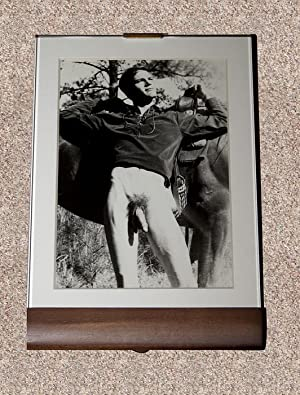"MALE NUDE: ""YOUNG EQUESTRIAN WITH HORSE"" BLACK-AND-WHITE PHOTOGRAPH - Rare Framed ..."