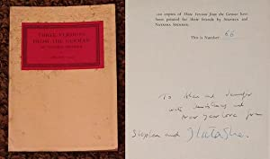 THREE VERSIONS FROM THE GERMAN - Rare Fine Copy of The Limited Edition: Signed And Inscribed by ...