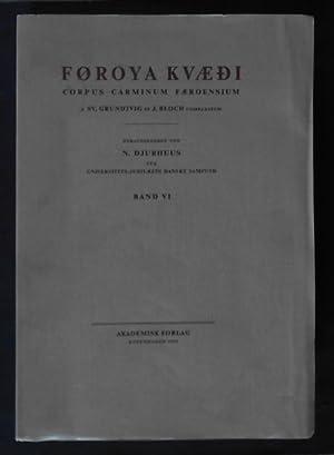 Føroya kvædi, Band VI - Corpus Carminum: Djurhuus, N. (Hrsg.)