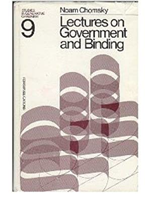 Lectures on Government and Binding. The Pisa Lectures.