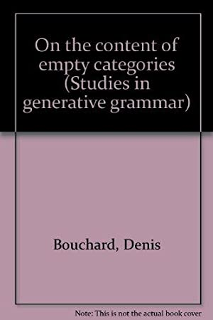 On the content of empty categories. Studies in generative grammar, 14.