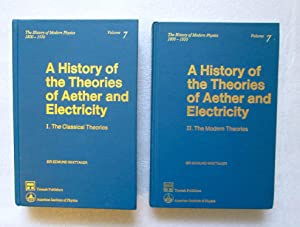 A History of the Theories of the: Whittaker, Sir Edmund