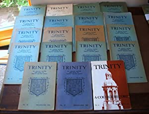 Trinity: An Annual Record Published by Trinity College Dublin, Numbers 1-20 (missing No. 3), 1949...
