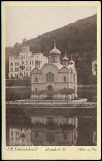 Die Russische Kirche In Ems Original Photographie Im Carte De Visite Format