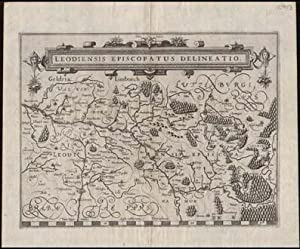 Leodiensis Episcopatus Delineatio. Kupferstich-Karte.: Belgien - Liege