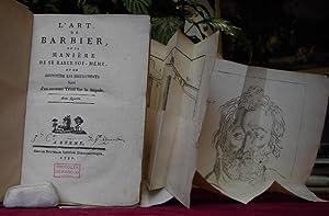 L' ART DU BARBIER, ET LA MANIERE: Perret Jean Jacques