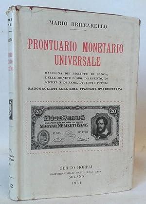 PRONTUARIO MONETARIO UNIVERSALE. Rassegna di Biglietti di: Briccarello Mario